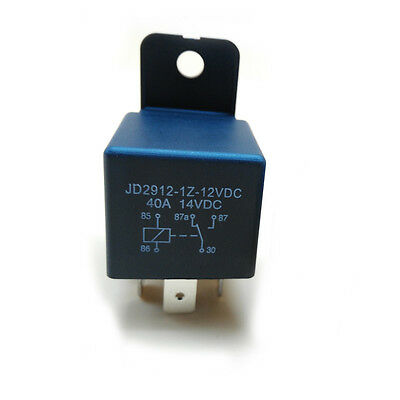 Boat Motorcycle ATV Auto DC12V 30A 40A Black 5Pin ON/OFF Split Changeover Relay