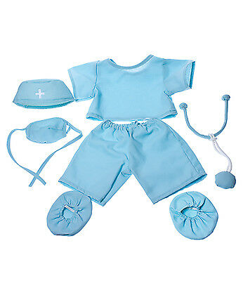 """Doctor Scrubs Outfit Teddy Bear Clothes Fits Most 14""""-18"""" Build-A-Bear and More"""