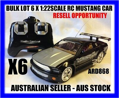 Bulk Lot Of 6 X Rc 1/22 Rc Ford Mustang Cars - Resell Opportunity - Aus Seller