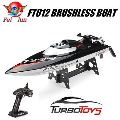 New - Rc 2.4Ghz Ft012 Brushless High Speed Racing Boat 45Km/h - Blk - Aus Seller