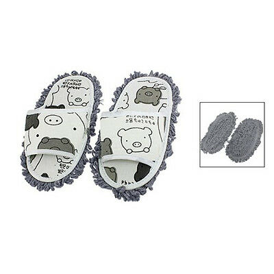 New Home Pair Dust Floor Cleaning Mopping Slippers Shoes HY