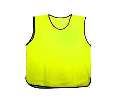 Scrimmage Training Vest Soccer Bibs Set of 12  Football YOUTH Size YELLOW Color