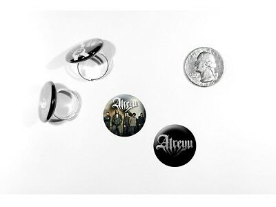 Atreyu Metalcore Alex Varkatzas Long Live Logo 2 adjustable rings