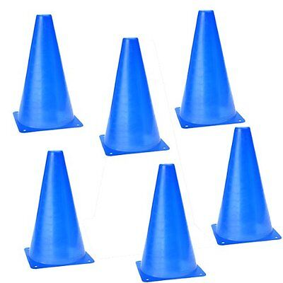 6 X Multi-function Safety Agility Cone for Football Soccer Sports Field- Blue HY