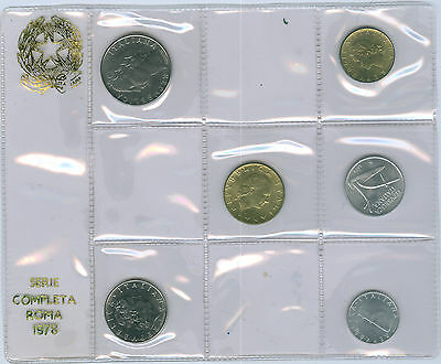 Italy Lire coin set 1978 brilliant uncirculated