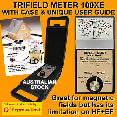 Oz Seller Trifield EMF Gauss Meter 100XE +Protective Case+ Free HowtoUse Guide