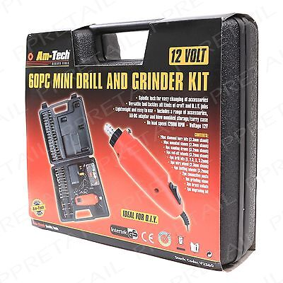 Rotary Mini Drill Bit Set & Grinding Tool Hobby Jewellery Craft Grind Electronic