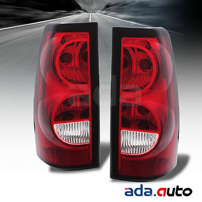 2004-2007 Chevy Silverado 1500 2500 3500 Red Tail Lights Replacement Lamps Set