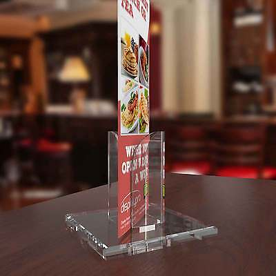 A5, A4 Acrylic Poster Menu Holder Perspex Leaflet Display Stands