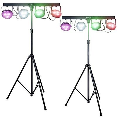 2X Kam Power Partybar WFS DMX LED Parcan DJ Disco Lighting Effect Package