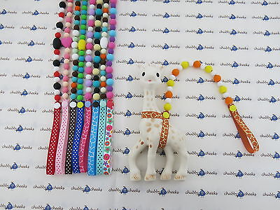 Sophie The Giraffe Strap Toy Saver Leash Holder Harness With Teething Beads