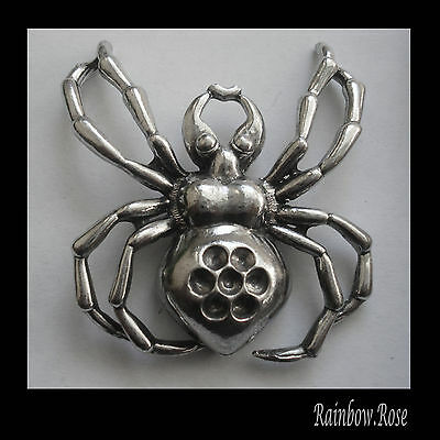 PEWTER CHARM #1127 SPIDER (46mm x 43mm) 1 bail PENDANT