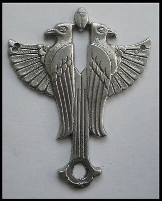 PEWTER CHARM #1148 PHOENIX (45mm x 36mm) 2 hole PENDANT EGYPTIAN Gem Cavity