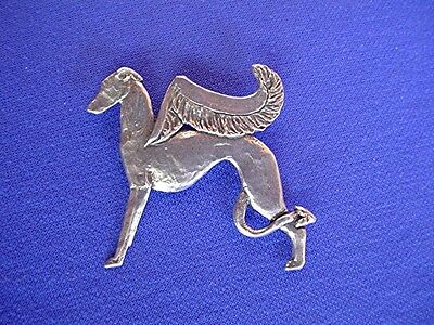 Whippet Greyhound Devil or Angel pin #13J Pewter Dog Jewelry by Cindy A. Conter