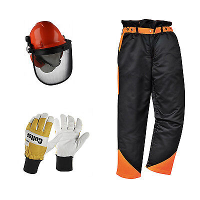 Chainsaw Protection Safety Protection Kit Trousers Gloves Helmet Kit