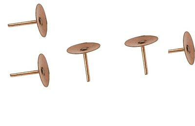 "Copper Disc Rivets Nails 19mm 3/4"" Roofing Slate Tile Rivets Choice Of Qty"