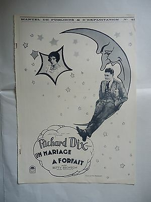 RICHARD DIX/PARADISE FOR TWO// french pressbook 20's