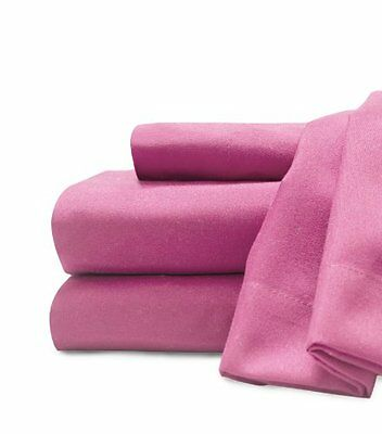 Soft and Cozy Easy Care Deluxe Microfiber Sheet Sets Hot Pink Twin XL 0366698410