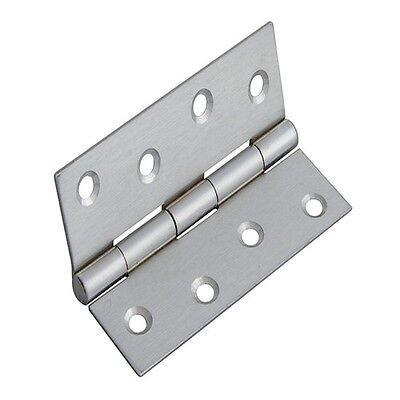 Forge FGEHNGBTSC10 Butt Hinge Satin Chrome Finish 100mm (4in) Pack of 2