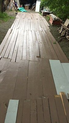 Genuine Antique Pine Wide Plank Flooring 800 sq ft Old Vtg Circa 1840s 704-16