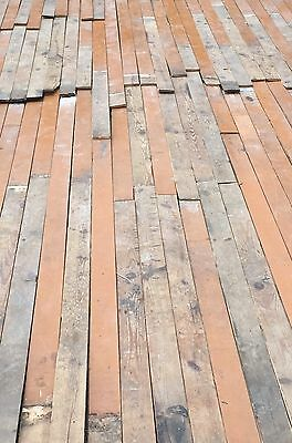 Genuine Antique Pine Plank Tongue & Groove Flooring 300 sq ft Old Vintage 705-16