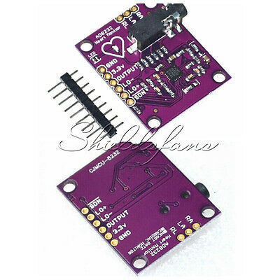 AD8232 Single Lead Heart Rate Monitor ECG Developemt Kit Arduino Compatible AU