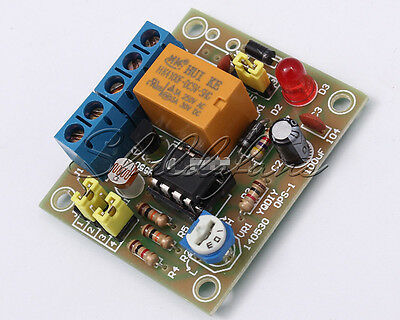 DIY Light Operated Switch Kit DIY Kit With 5V Relay LM393 Electronic Funny AU