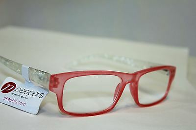 NEW Peepers Reading Glasses Strength +2.25 Double Trouble Pink