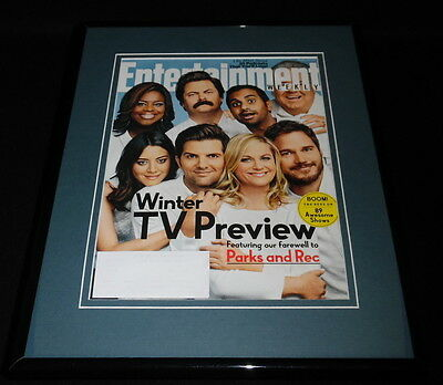 Parks and Rec Finale Framed 11x14 ORIGINAL 2014 Entertainment Weekly Cover