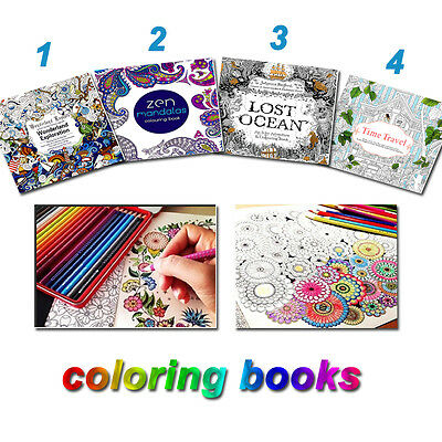 Children Coloring Book English Paperback Adult Stress Relief Graffiti Home Paint