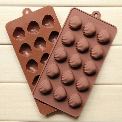 15 Cells Seashell Silicone Cake Chocolate Muffin Candy Cookie Soap Mould Pan DIY