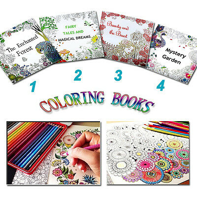 Children English Adult Graffiti Secret Garden Coloring Book Drawing Youngs