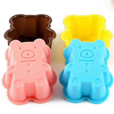 Cute Bear Silicone Soap Mold Cake Chocolate Muffin Cookie Baking Mold Bakeware