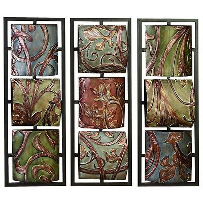 Benzara 56489 Metal Wall Decor 3 Asst Can Be Put In Waiting Area NEW