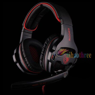 SADES SA-903 Stereo 7.1 Surround Professional USB PC LOL Game Headset Headphone