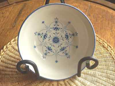 Vintage Carrigaline Ireland Blue and White Dessert Bowl  Floral Pattern