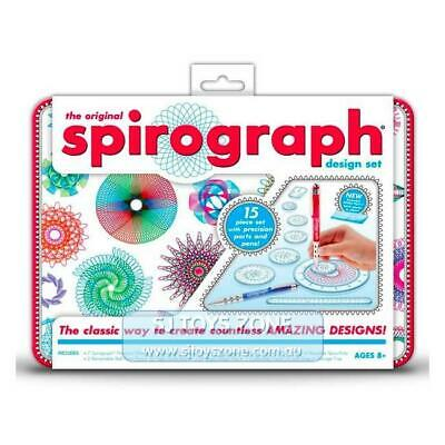 Spirograph Design Tin Set Fun Kids Creative Drawing Activity For Young Aspiring