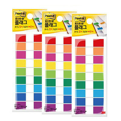 3M Post-it Flag 683-9KN 12mm*44mm 3packs  270 Sheets bookmark point Sticky Note