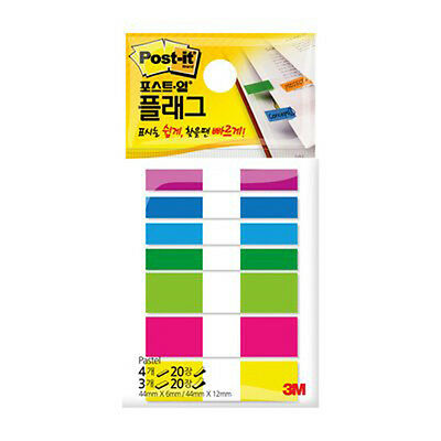 3M Post-it Flag 683-pastel 1packs  140 Sheets bookmark point Sticky Note
