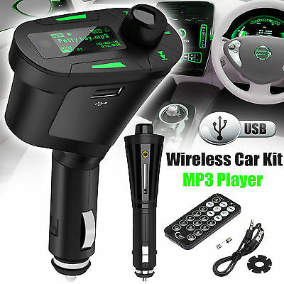 Wireless Car FM Transmitter Audio USB SD Card Slot Kit MP3 Player Radio + Remote