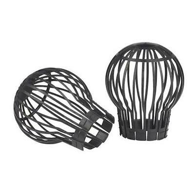 Pack of 2 Gutter downpipe outlet balloon leaf guard trap for drains