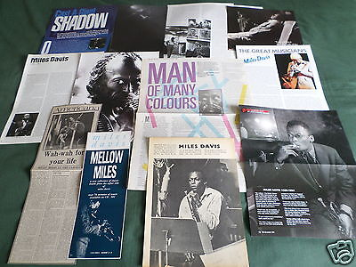 Miles Davis - Jazz Music- Clippings /cuttings Pack