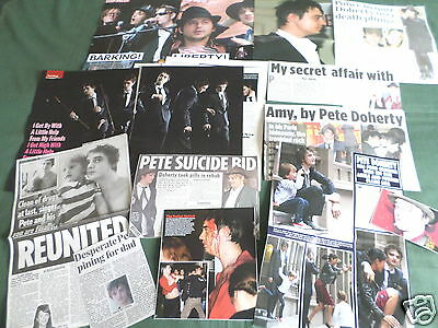 Pete Doherty - Indi/punk Music- Clippings /cuttings Pack