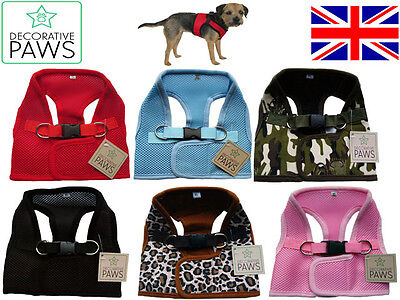 Soft Mesh Fabric Small Dog Puppy Harness Step In Vest Style Non Pull