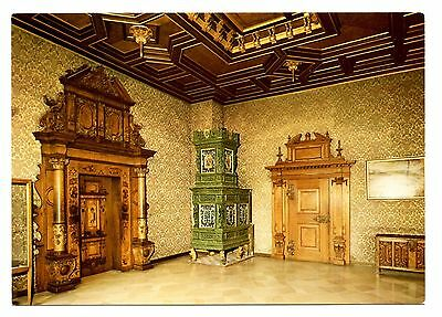 Heidelberg Castle Schloss Friedrich Building Drawing Room Postcard Germany Stove