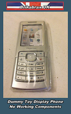 Nokia N6500 Silver Dummy Toy Mobile Phone Not Real Display Handset New #H19