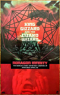 KING GIZZARD & THE LIZARD WIZARD Nonagon Infinity Ltd Ed New RARE Poster Display