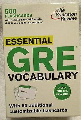 GRE Flashcards 500 Essential Vocabulary Words The Princeton Review