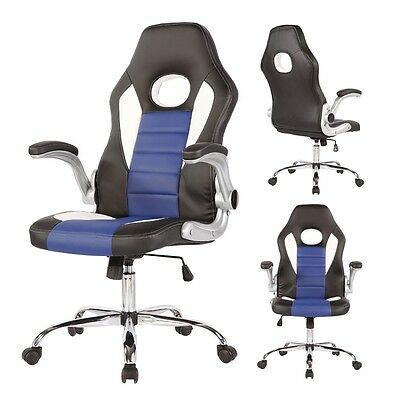 Executive Office Chair Swivel High Back PU Leather Computer Desk Task Ergonomic