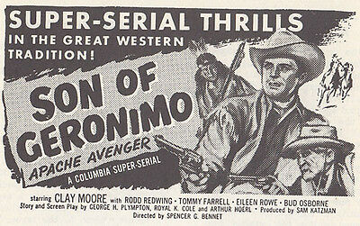 Son of Geronimo  - Classic Cliffhanger Serial Movie DVD Clayton Moore
